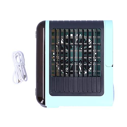 BOLORAMO Enfriador de Aire, Carga USB de Viento de Tres velocidades Elimina olores Ventilador de refrigeración de Escritorio Salida de Aire Ajustable para Dormitorio para Oficina