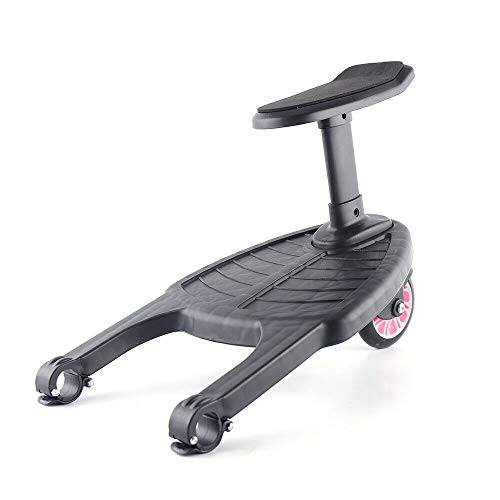 Fetcoi Plataforma para cochecito de bebé, 25 kg, universal, para niños a partir de 15 meses, con pedal, asiento de asiento (rosa)