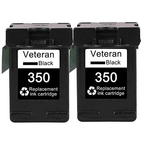 ZIJ Veteran 350XL 351XL Cartucho de tinta de repuesto para HP 350 351 hp350 D4200 C4480 C4580 C4380 C4400 C4580 C5280 C5200 C5240 (Color: 2 x 35000000000) XL)