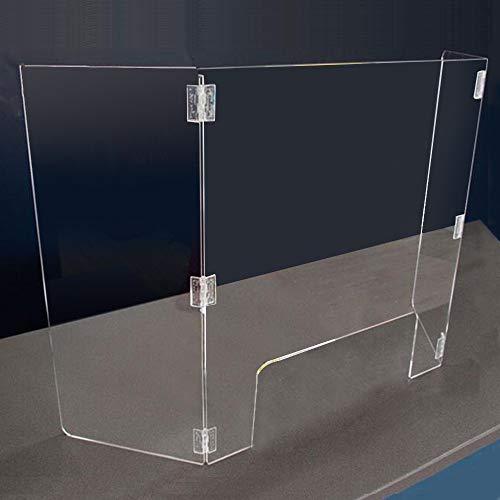 Acrylic Fold Counter Protective Sneeze Guard Clear Spit Shiled (480×250400mm)