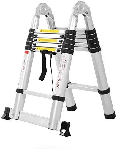 HL-TD Escaleras Extensibles Escalera Plegable Multiuso De Aluminio Telescópica Escalera De Extensión Extender Portátil Plegable General Perfil Heces (Size : 5.6m(2.8m+2.8m)): Amazon.es: Hogar