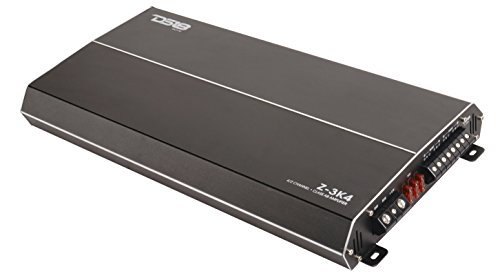DS18 Elite Z-3K4 Car Audio Amplifier in Black - Class AB, 4 Channels, 3000 Watts Max, Digital, 2/4 Ohm, Heavy Duty Heatsink, MOSFET - Car Audio Amp for Subwoofer and Door Speakers