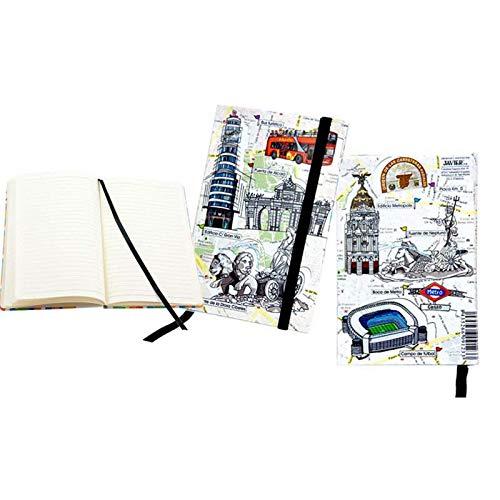 Cuaderno Agenda Madrid 9 x 14 cm. 80 Páginas en blanco