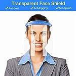 Pantalla Protección Facial Transparente, UNTIRE 3 soporte + 20 fundas Protector Facial, Desmontable,... #2