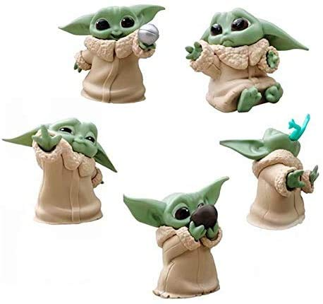 Star Wars Baby Yoda Doll from The Mandalorian The Bounty Collection The Child Collectible Toys 2.2-Inch Baby Yoda Toys for Blanket-Wrapped Mini Figure 5-Pack