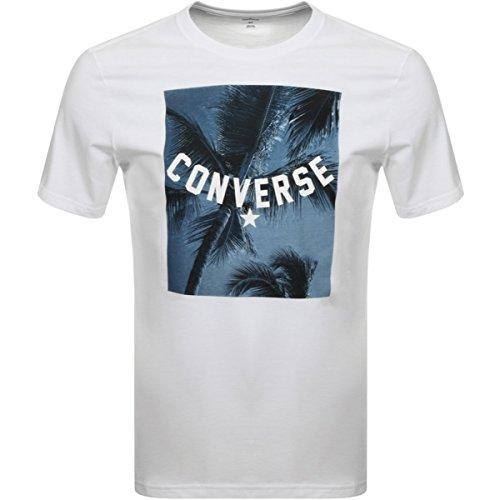 Converse - Camiseta - Manga Corta - para hombre Blanco blanc