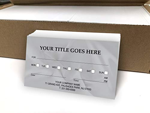 Custom Appointment Reminder Business Cards 500 Full color - Customize (front&back) - Appointment reminder card on Front, Your business card info on backside -Offset Printing, Made in The USA (Grey)