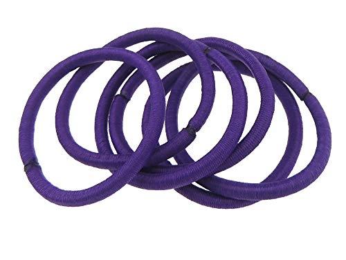 Confezione da 6 elastici per capelli per donne e ragazze, colore viola