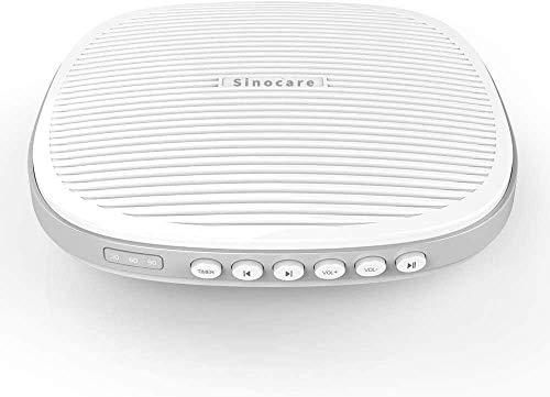 Sinocare White Noise Machine Einschlafhilfe Weißes Rausche Maschine 20 Natürlichen Klängen Tragbarer Timing Funktion USB Wiederaufladbarer für Baby Erwachsene Zuhause Büro Schlafen Weiß