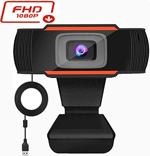 MEKUULA Webcam mit Mikrofon, Full HD 1080P Streaming Webcam für PC, Laptop, Mac Desktop USB 2.0 Webkamera für Telearbeit, Videoanrufe, Online-Kurse, Konferenz, Aufnahme, Spielen