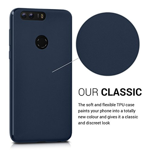 kwmobile Huawei Honor 8 / Honor 8 Premium Hülle - Handyhülle für Huawei Honor 8 / Honor 8 Premium - Handy Case in Dunkelblau - 3