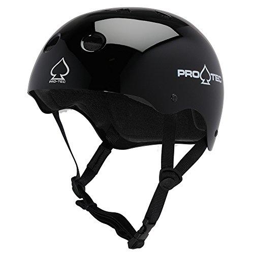 (プロテック) PRO-TEC CLASSIC SKATE GLOSS BLACK ヘルメット グロスブラック 黒 プロテクター スケートボード スケボー sk8 skateboard BMX インライン【正規輸入品】 (L)