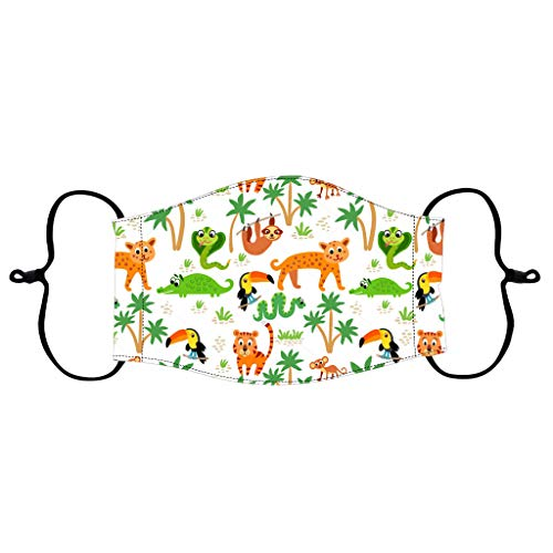 HCFKJ Children's Reusable Printed Face Soft Covering Kids Cartoon Adjustable Windproof Bandanas Can Put Filters (This Package Not Included) N 1PC【Fast Deliver in 7-15 Days】