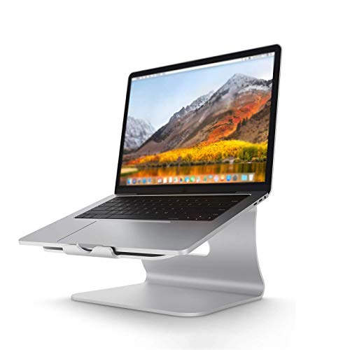 HUADUO Soporte Portátil, Ergonómico Laptop Stand, Soporte Ajustable para Portátil De Aluminio Compatible con Computadoras Portátiles De 11-16 Pulgadas, Plata