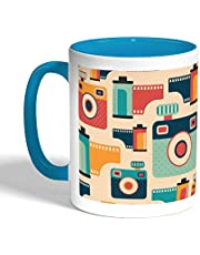 Printed Coffee Mug, Turquoise Color, Cameras & Photography (Ceramic)