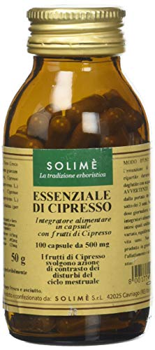 Cipresso Integratore in capsule per i disagi della menopausa con olio essenziale 100 capsule da 500 mg - Prodotto erboristico made in Italy