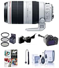 Canon EF 100-400mm f/4.5-5.6L IS II USM Zoom Lens, USA - Bundle with 77mm Filter Kit (UV/CPL/ND2), DSLR Follow Focus & Rack Focus, Cleaning Kit, Capleash II, Flex Lens Shade, Pro Software Package