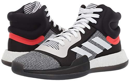 adidas Men's Marquee Boost Low, White/Black/aero Blue, 11 M US