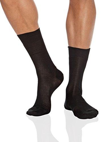 Punto Blanco 1340010 Calcetines cortos, Negro (Negro 090), 41/42 (Tamaño del fabricante:11) (Pack de 6) para Hombre