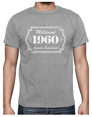 Green Turtle Camiseta para Hombre - Regalo 60 años - Millésimé 1960 Cosecha Especial