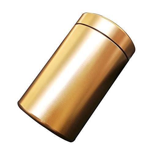 XIAOXIAO Caja de Cigarrillos Caja De Cigarrillos Impermeable De Aluminio 30 Piezas Caja De Cigarrillos Sellada A Prueba De Humedad Almacenamiento De Cigarrillos para El Hogar del Coche(Color:Oro)