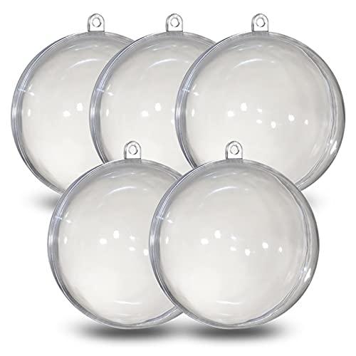 Kunststoff Kugel A502166 Transparente, 120 mm, 5 Unidades, plástico, Transparente, diámetro de 12 cm