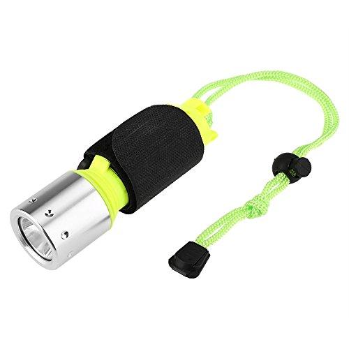 EVTSCAN Luz de Buceo, Linterna de Mano Ligera portátil de 3 Modos para Buceo, natación, Acampada, Caza, Pesca ✅