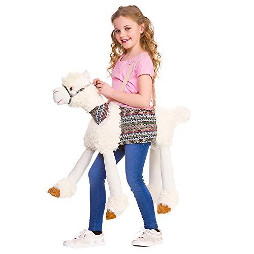 Disfraz unisex para niños de paseo en llama, talla única de 4 a 8 años, disfraz de lujo