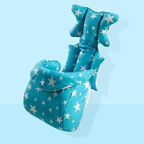 Produits pour bébés Mode Bébé Poussette Coussin Bébé Siège Couche Pad Poussette Tapis Poussette Accessoires Produits pour bébés (Couleur : Blue with foot cover)