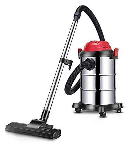 Qianglin Vacuumas de Mano al vacío de Recipiente de Gran Capacidad.Limpiador Industrial Industrial múltiple seco y Mojado 20kPa, 15L-Silver 15L