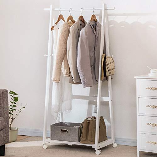 Effen houten kapstok opvouwbare multifunctionele stevige structuur sparen ruimte A-frame kledingrek voor hal woonkamer