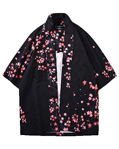 Camisa Kimono Estilo Japonés para Hombres Mujer Estampado Holgado Manga 3/4 como Imagen XL