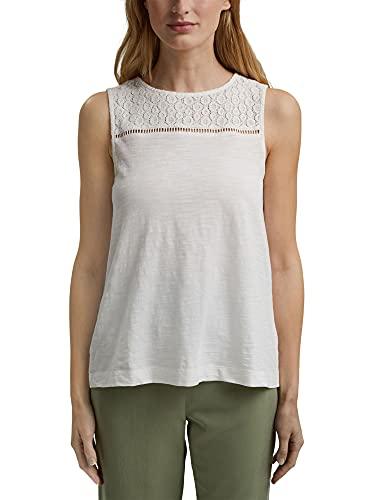 Esprit 041ee1k355 Camiseta, 110/Off White, XXL para Mujer