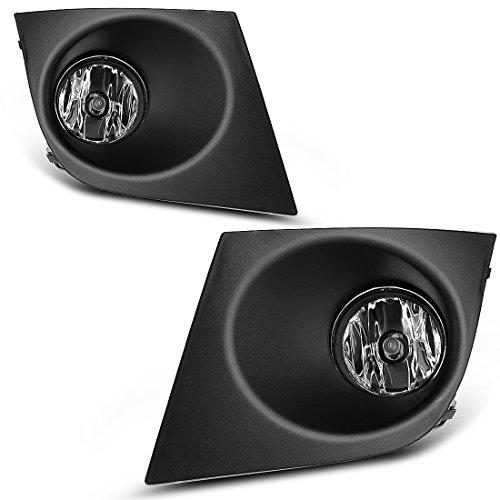 Fog Lights Compatible with 2007 2008 2009 2010 2011 Nissan Versa Tiida (w/Bulbs & Wiring Harness)