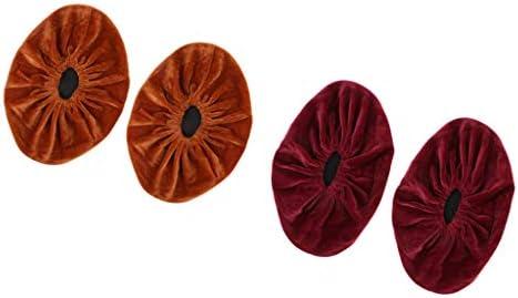 Funda de Zapatos Niños Portátil Rojo Naranja/Cubiertas de botas Reutilizable Zapatos Cubierta para Baño y Parque Infantil (2 pcs)
