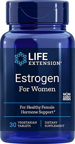 Life Extension, Estrogen für Frauen, 30 vegetarische Tabletten, glutenfrei