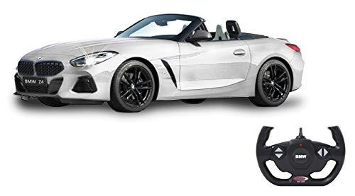 Jamara 405174 BMW Z4 Roadster 1:14 weiß 2,4GHz Tür manuell-offiziell lizenziert, bis 1 Std Fahrzeit, ca. 11 Kmh, perfekt nachgebildete Details, detaillierter Innenraum, LED Licht