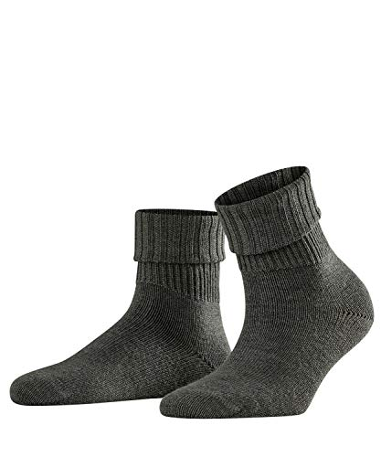 FALKE Damen Socken Rib, Schurwollmischung, 1 Paar, Grau (Dark Grey 3070), Größe: 39-42