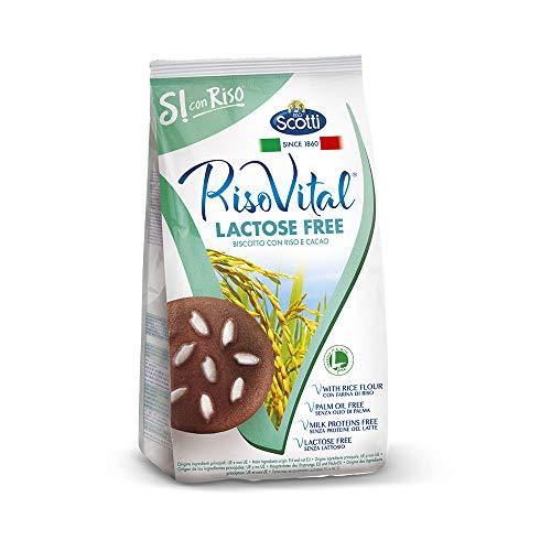 Riso Scotti Si con Riso - Riso Vital Laktosefreie Reiskekse mit Kakao, Kekse ohne Palmöl, 350 g