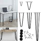 4 x Metall-Beine für Couchtische, strapazierfähig, 10 cm bis 40 cm, 2 Stangen,...