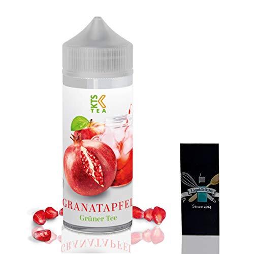 KTS Tea Granatapfel 30ml Aroma + 1x Liquidküche Akku Sleeve Nikotinfrei | zum Mischen von Liquid für EZigaretten | Schutzhülle für deine Akkus | Konzentrat | Ohne Nikotin?