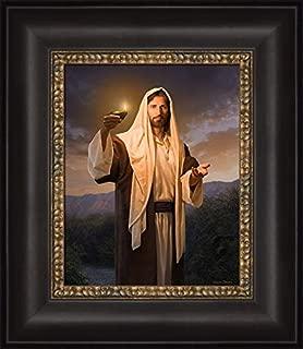 Simon Dewey Lead, Kindly Light- Christian Art Jesus Christ (Framed, 12x14)