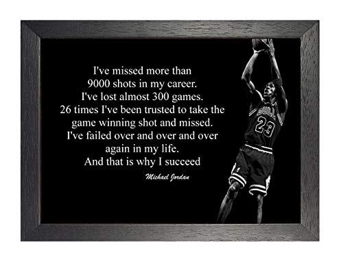 Michael Jordan 7# Nero e Bianco Americana Pallacanestro Giocatore NBA Sport Citazione Poster Motivazione Immagine Inspiration Foto Treno Rigido Camera da Letto Illustrazione Muro Decorazione Ristampa