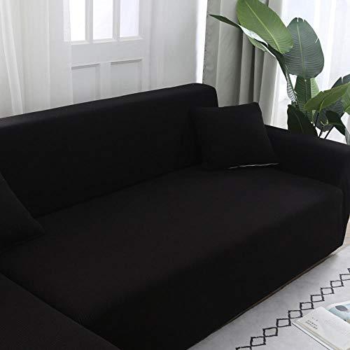 Mobili Coperture Letto con Divano Slipcovers Fodere per un cuscino, Fodere per copridivano elasticizzate in tinta unita Fodere per divano, Fodera per divano da salotto Stretch 18-18 inch nero