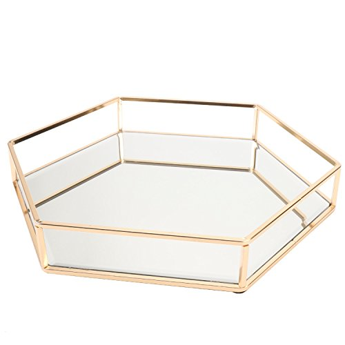 Vintage Glass Tray for DecoraiveVanityPerfumeJewelry Trinket Countertop Holder Dresser Cosmetic Organizer Ornatte Bathroom Dish Display