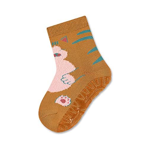 Sterntaler Baby-Mädchen FLI AIR Katze Hausschuh-Socken, Hellbraun, 24