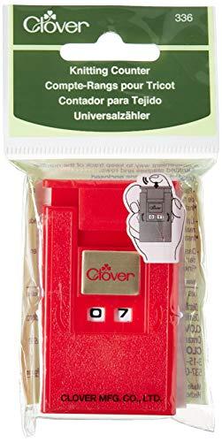 Clover Contador Puntos y Filas, Rojo, 13x6.5x3 cm