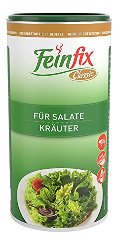 Feinfix Classic Salatdressing Kräuter 300g für Salate   Kräutermischung zum Anmachen   Gewürzmischung gemischt für Dressing   Würzig getrocknete Salatkräuter fertig   RO-IV5K-P1Q8