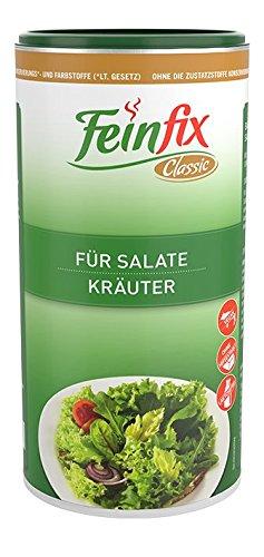 Feinfix Classic Salatdressing Kräuter 300g für Salate | Kräutermischung zum Anmachen | Gewürzmischung gemischt für Dressing | Würzig getrocknete Salatkräuter fertig | RO-IV5K-P1Q8