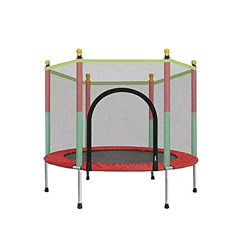 Rebounder Trampolines Household Children's Indoor Mini Trampoline Adult Fitness Family Baby Bounce Bed Children's Sports Toys with Protective Net Max Load 200kg Fitness Trampoline Exercise Equipment